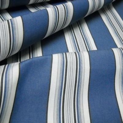 Bache larges bandes bleu denim blanc noir 1