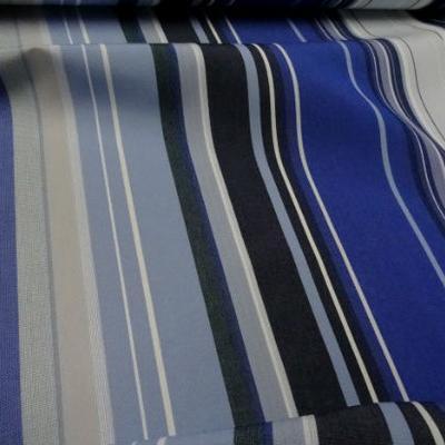 Bâche rayée bleu dur-bleu roi-ciel 1