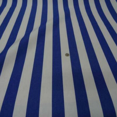 Bache rayures moyennes blanc bleu outremer 2