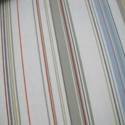 Bâche blanc rayée bleu ciel-beige 01