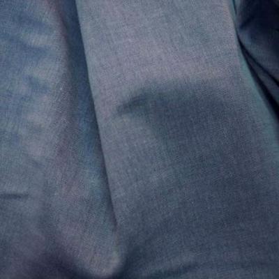 Coton chemise bleu jean delave 1