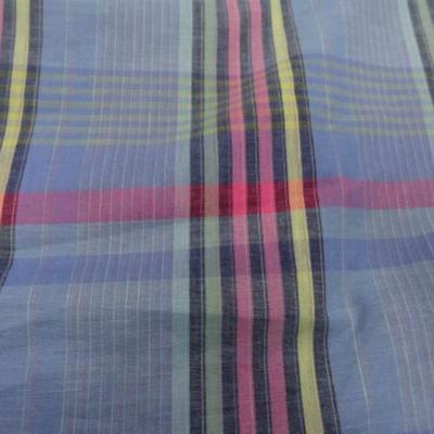 Coton fin bleu madras 2