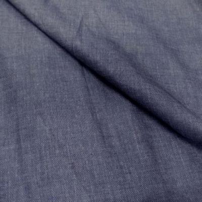 Coton fin gris bleu aspect chemise jean0