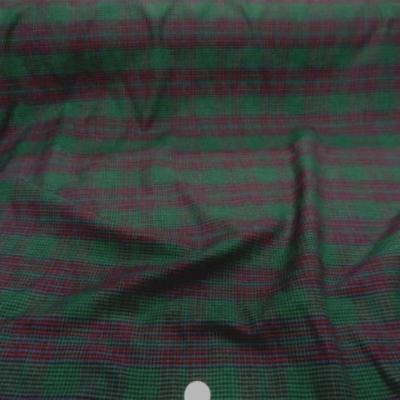 Coton gratte vert rouge a carreaux 1