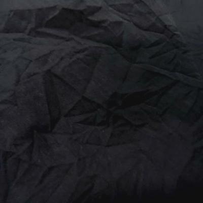 Coton noir froisse permanent 3