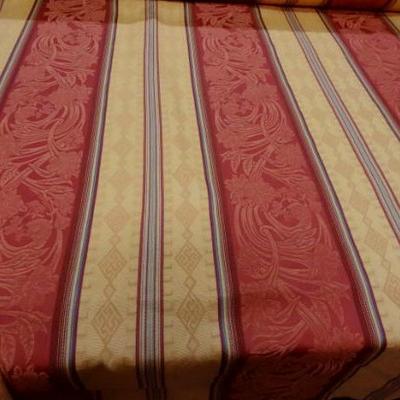 Coton polyester rayures safran jaune paille 1