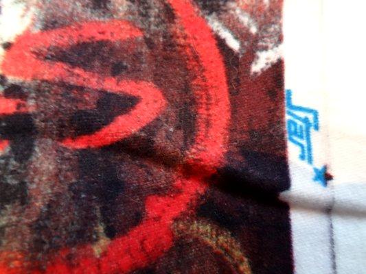 Coton velours imprimé graff 03