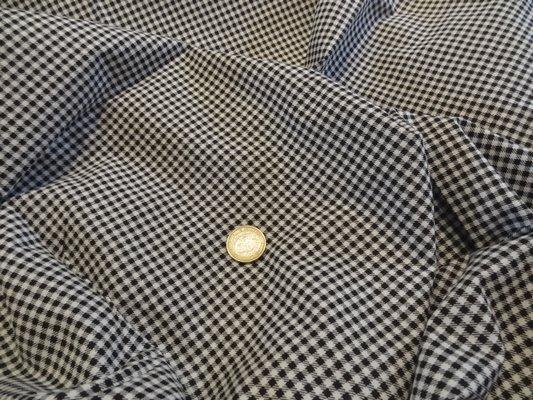 Cotonnade petit vichy blanc-noir 01