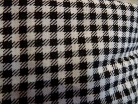 Cotonnade petit vichy blanc-noir 03