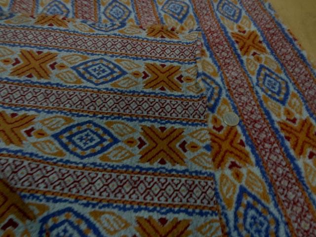 polaire épaisse imprimée bleu-orange 1