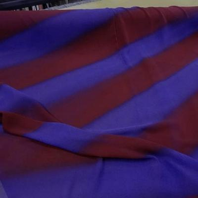 Crepe grosses rayures violet rouge cardinal 1