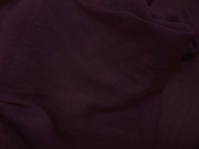 Crepe polyester lie de vin 1 1
