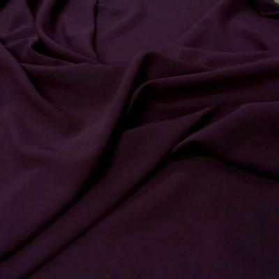Crepe polyester lie de vin 1