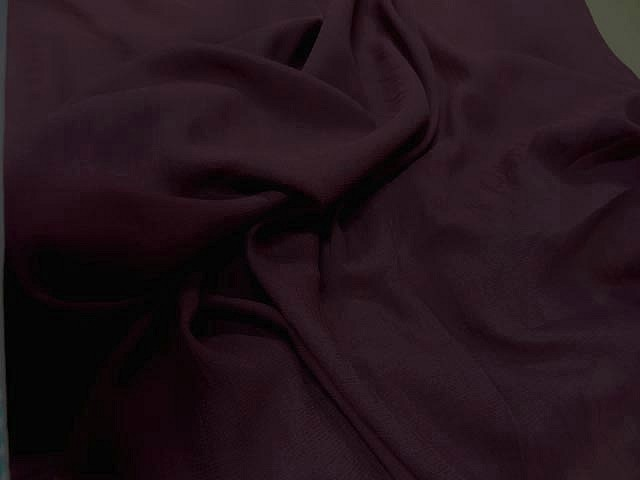 Crepe polyester lie de vin 2 1
