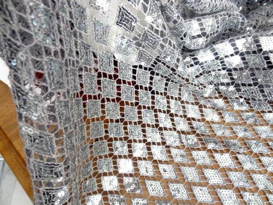 Crochet avec sequins en losange 02