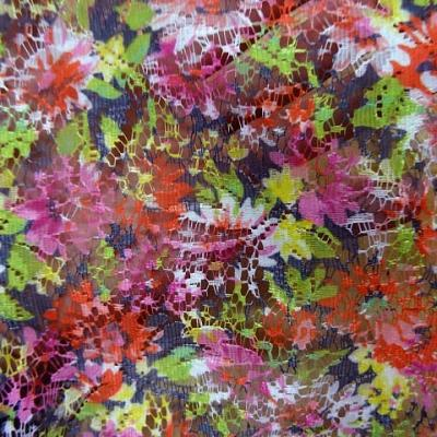Dentelle seche motif bouquet 3