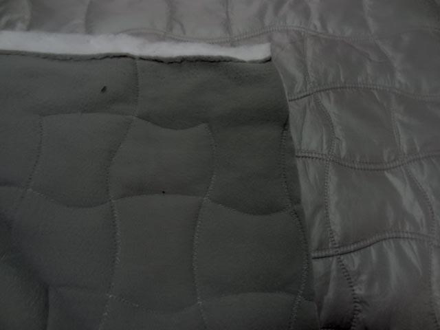 Doublure matelassée grise satin et polaire 0