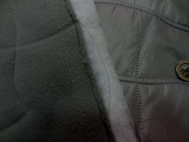 Doublure matelassée grise satin et polaire 3