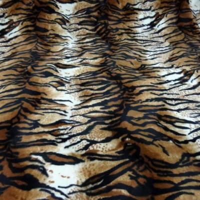 Fausse fourrure rase tigre art deco 2