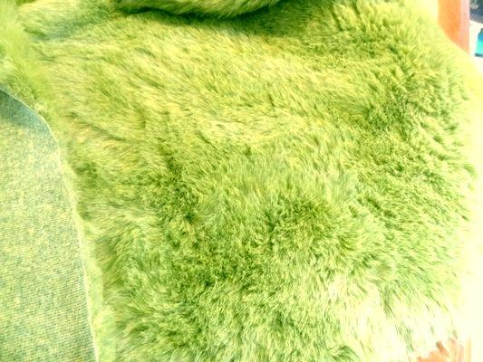 Fausse fourrure vert jaune 01