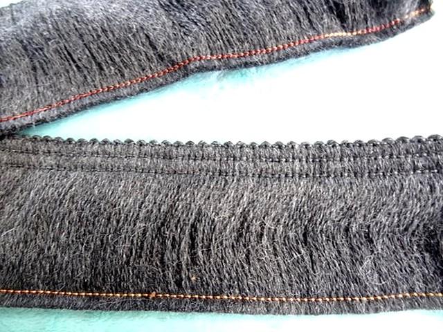 Frange laine gris moyen 1