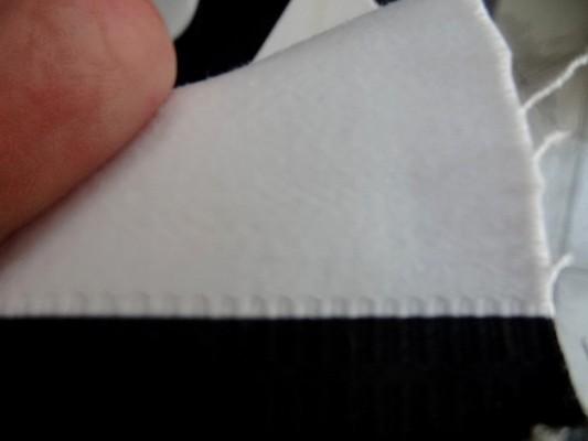 Gabardine coton lycra blanc-noir rayée 03