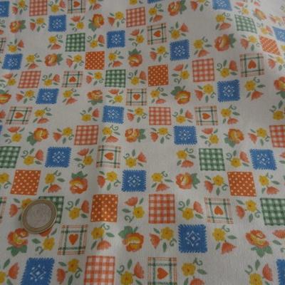 Jersey coton imprimé tablier 01