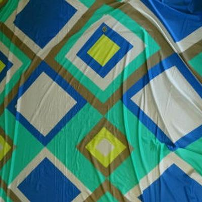 Jersey coton vintage vert-bleu acidulé 01