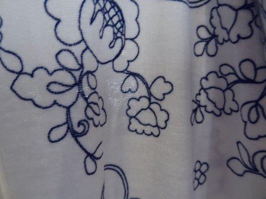 Jersey viscose bleu blanc dentelle 04