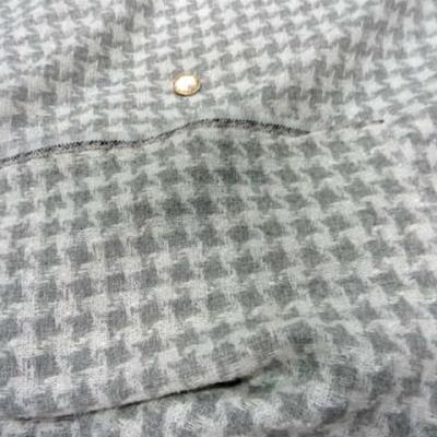 Laine soie melange blanc gris