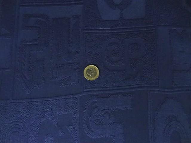 Lycra bisou bisou bleu nuit motif symboles 3