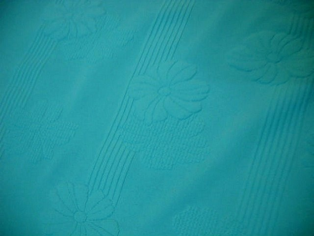 Lycra bleu celeste frappe rayures fleurs en relief 4