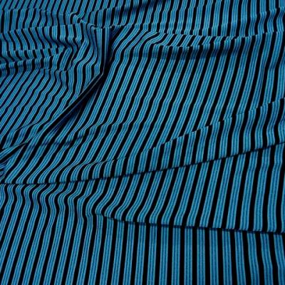 Lycra bleu rayures et lignes 3