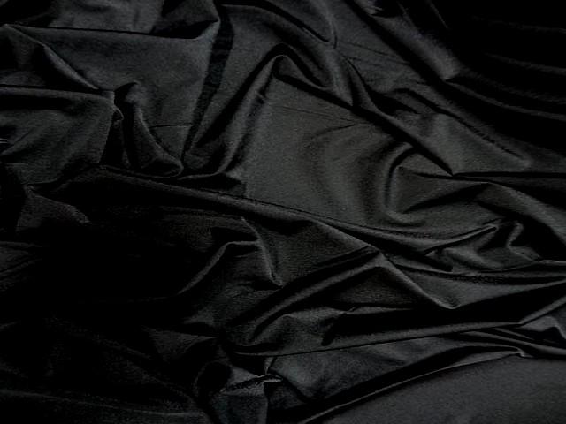 Lycra fin satine noir 2