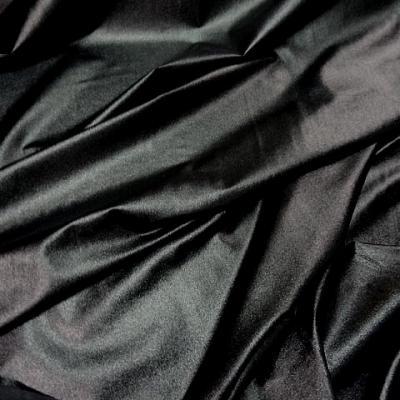Lycra noir brillant effet mouille 1