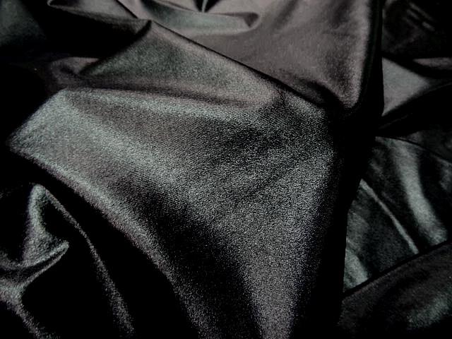 Lycra noir brillant effet mouille 2