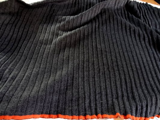 Maille coton polyester gris foncé chinée 001