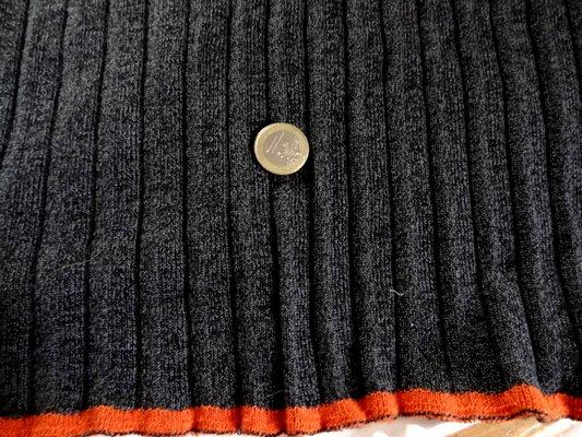 Maille coton polyester gris foncé chinée 002