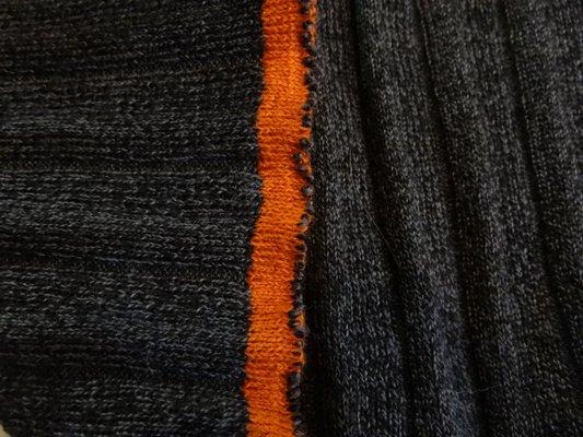 Maille coton polyester gris foncé chinée 005
