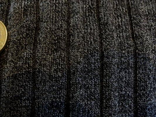 Maille coton polyester gris foncé chinée 007
