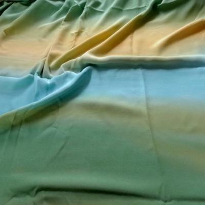 Microfibre tie and dye vert clair-jaune-bleu 1