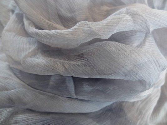 Mousseline chiffon nuage gris 01
