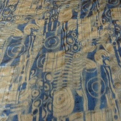 Mousseline gaufree motifs psychedeliques 1