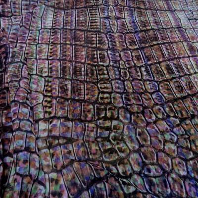 Mousseline polyester motif ecailles multicolore 2