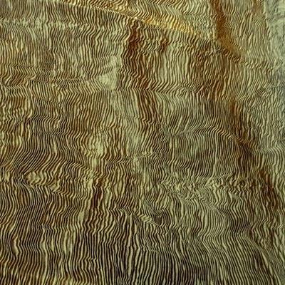 Plissé magma vieil or