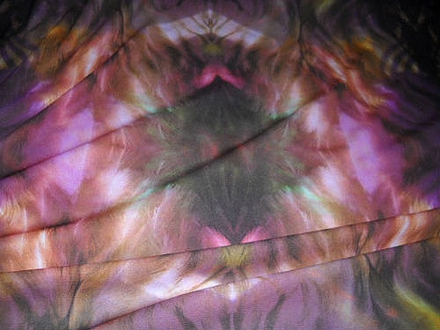 Resille lycra tie and dye ocre violet 3