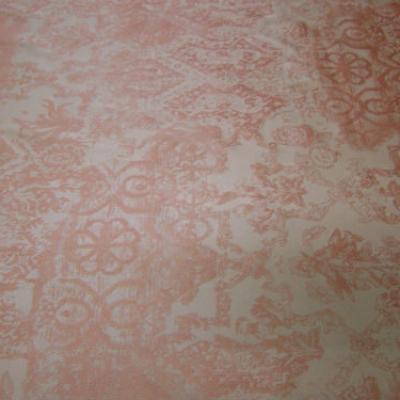 Satin lycra mat beige motif or cuivre 1