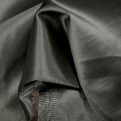 Satin viscose gris taupe clair tissage relief 3