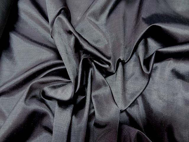 Taffetas de soie gris moyen 3