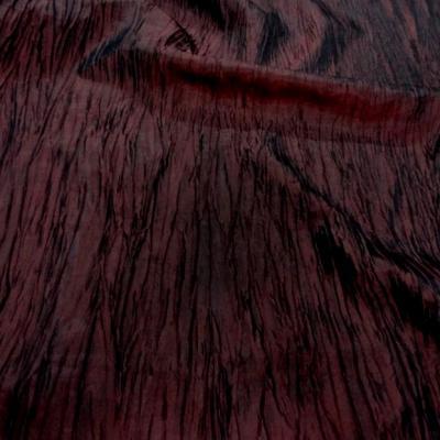 Taffetas froisse rouge bordeaux 0 2